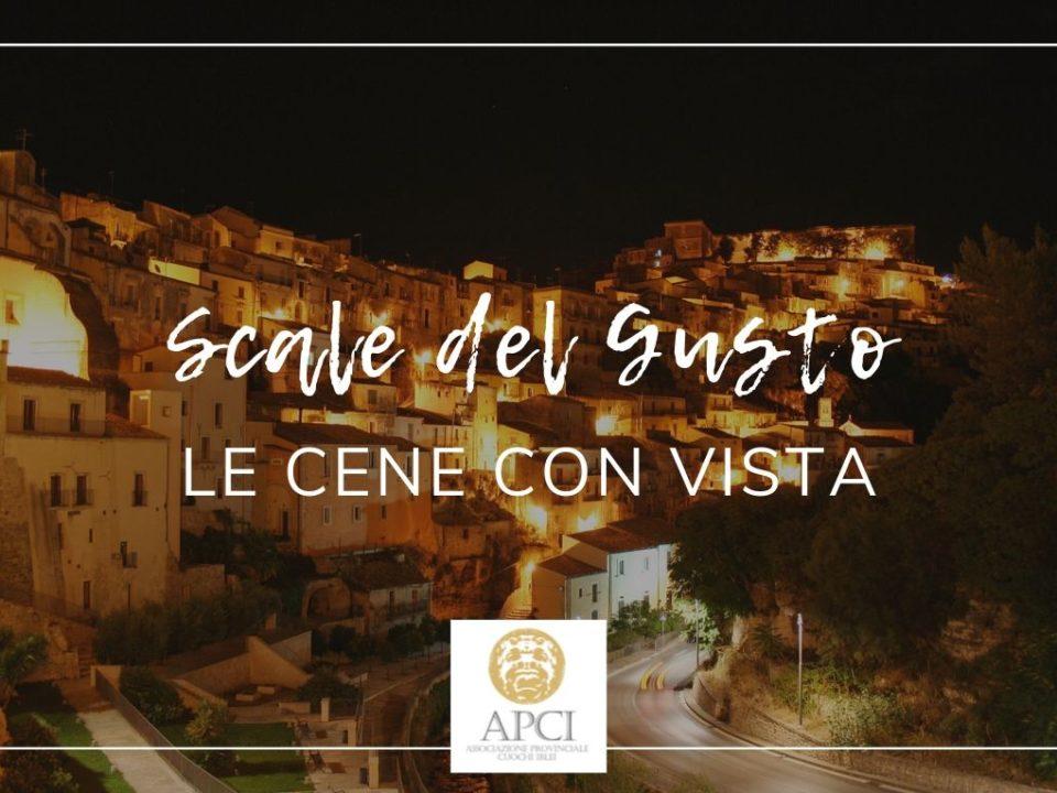 """A """"Scale del Gusto"""" le Cene con vista dei Cuochi Iblei APCI Ragusa"""